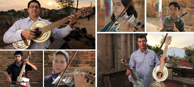 Landfill Harmonic Orchestra recyklovane hudobne nastroje 6
