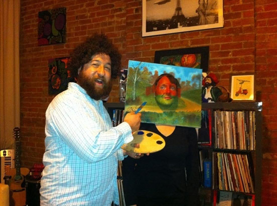 halloweensky kostym Bob Ross and a Painting
