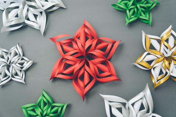 3D papierove vlocky 1