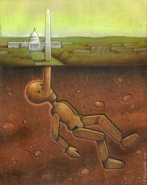 Pawel Kuczynski satiricke ilustracie 10