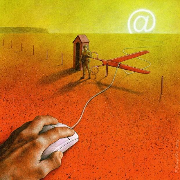 Pawel Kuczynski satiricke ilustracie 24