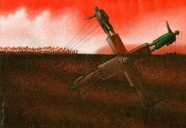 Pawel Kuczynski satiricke ilustracie 32