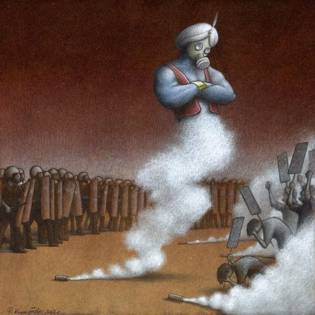 Pawel Kuczynski satiricke ilustracie 33
