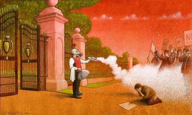 Pawel Kuczynski satiricke ilustracie 34