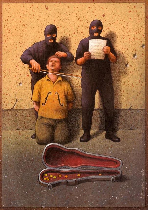 Pawel Kuczynski satiricke ilustracie 41