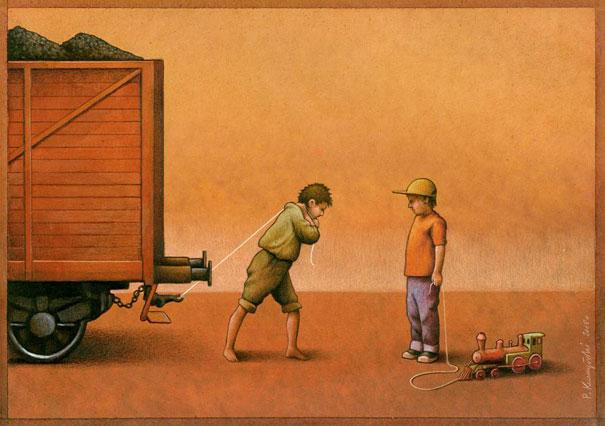 Pawel Kuczynski satiricke ilustracie 43