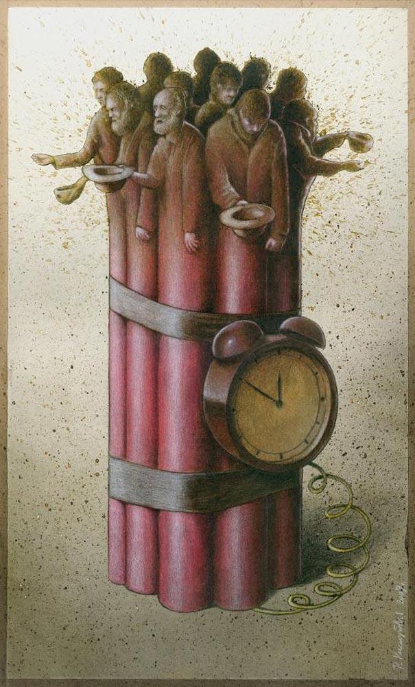 Pawel Kuczynski satiricke ilustracie 47