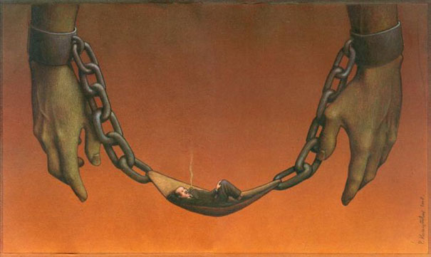 Pawel Kuczynski satiricke ilustracie 56