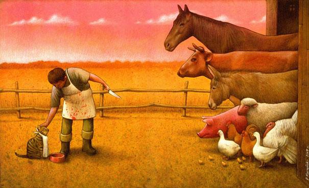 Pawel Kuczynski satiricke ilustracie 8