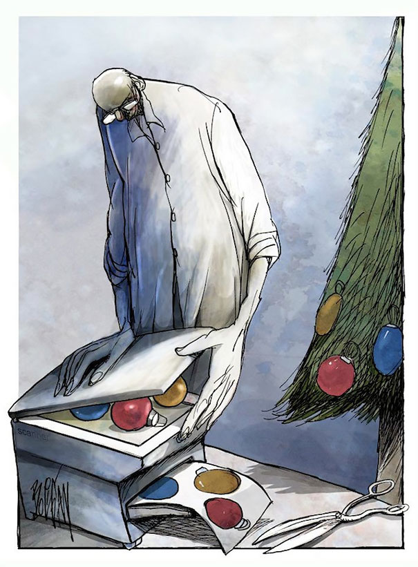 Angel Boligan surrealisticke karikatury 13