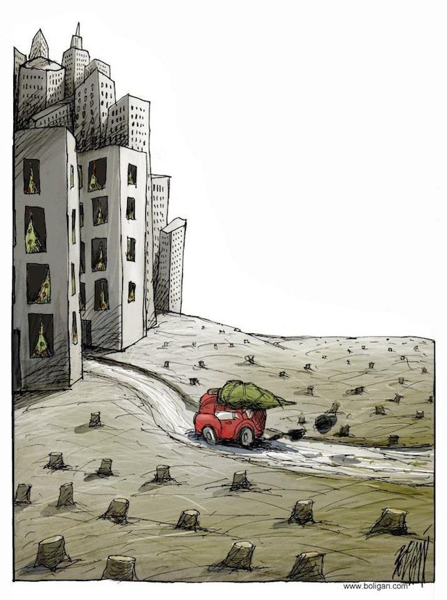 Angel Boligan surrealisticke karikatury 18