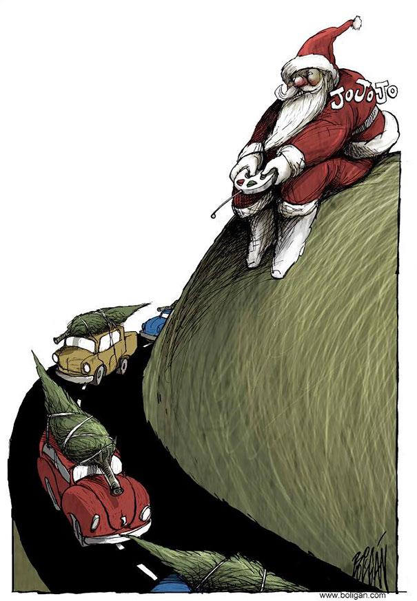 Angel Boligan surrealisticke karikatury 5