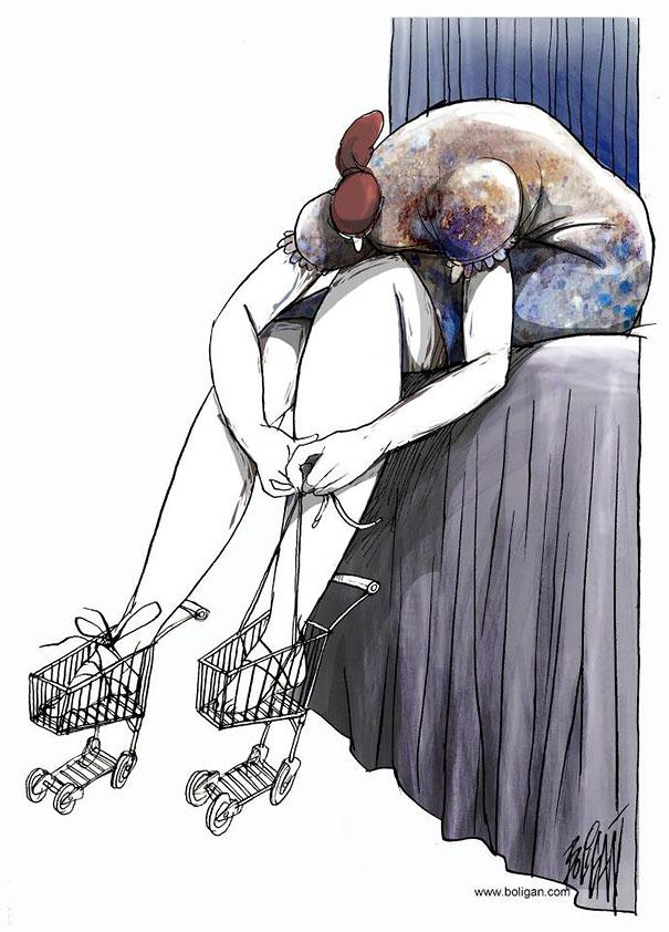 Angel Boligan surrealisticke karikatury 6