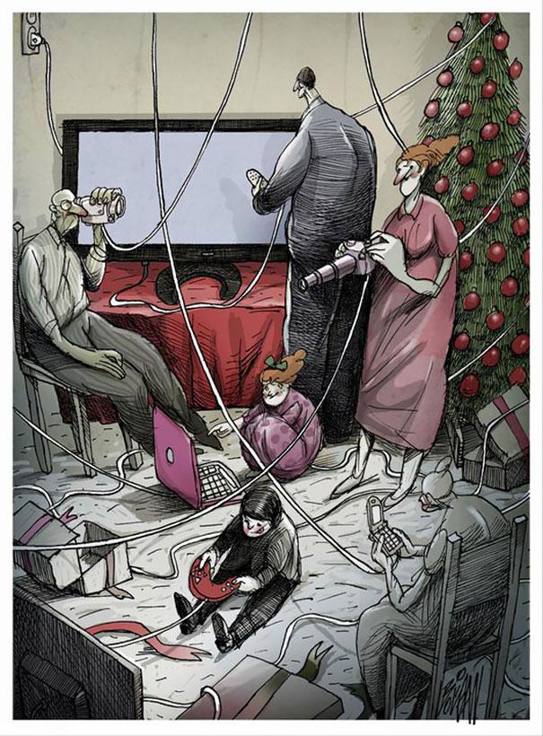 Angel Boligan surrealisticke karikatury 7
