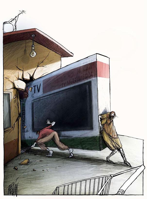 Angel Boligan surrealisticke karikatury 9