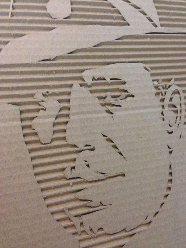 portrety vyrezane do kartonu 4