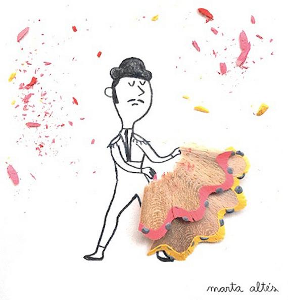 Marta Altes ilustracie hobliny zo struhatka 1