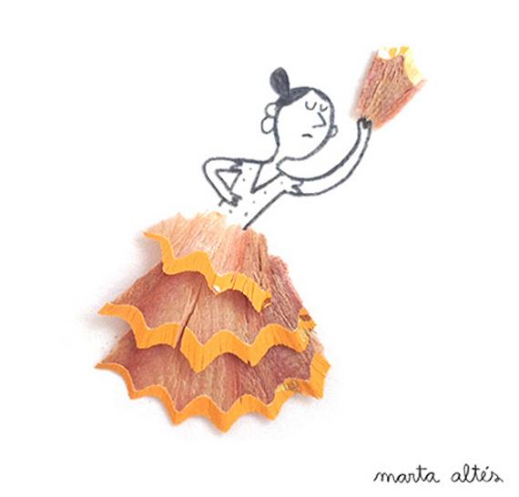 Marta Altes ilustracie hobliny zo struhatka 2