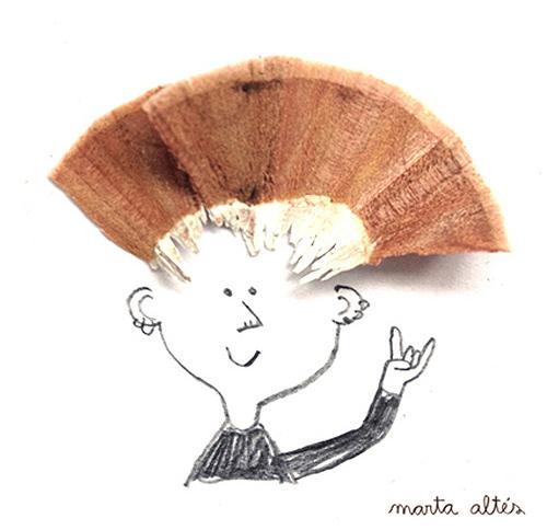Marta Altes ilustracie hobliny zo struhatka 4