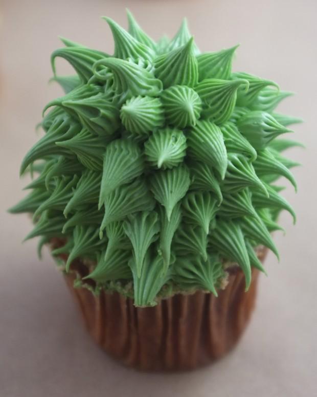 Cupcakes ktoré vyzerajú ako skutočné kaktusy 4