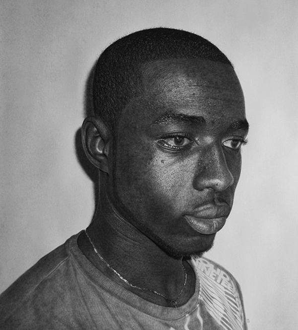 Kelvin Okafor fotorealisticke kresby ceruzkou 16