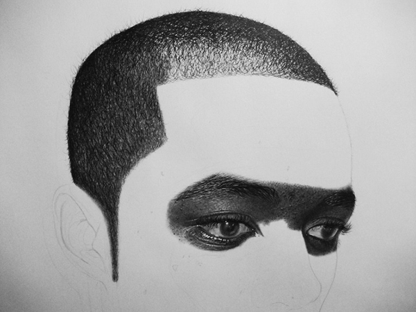 Kelvin Okafor fotorealisticke kresby ceruzkou 16a