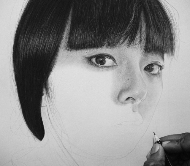 Kelvin Okafor fotorealisticke kresby ceruzkou 9