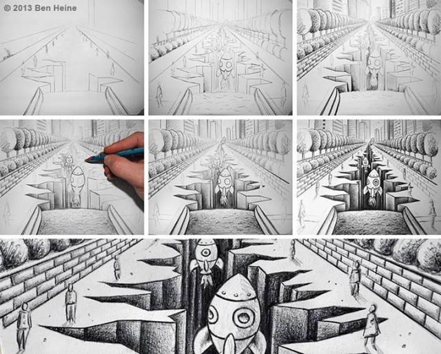 ben heine fotoaparat vs ceruzka 19b