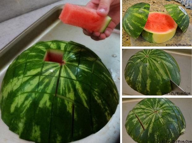 návod ako nakrájať melón