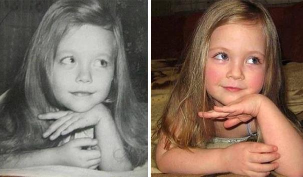fotografie podobnosti deti a ich rodicov 1