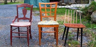 Nápady ako vyrobiť zo starých stoličiek lavičku | DIY návody