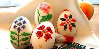 Vyšívané veľkonočné vajíčka | Návod ako na to a inšpirácie