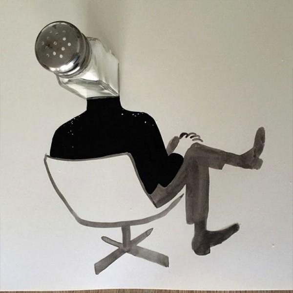 Kreatívne ilustrácie umelca mení predmety na niečo nové 20