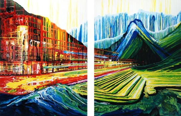 Amy Shackleton gravitacne malovanie bez stetca 1