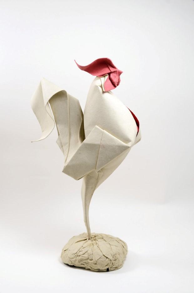 Hoang Tien Quyet origami zvieratka mokrou technikou 1