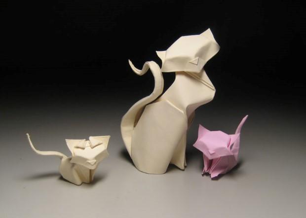 Hoang Tien Quyet origami zvieratka mokrou technikou 12