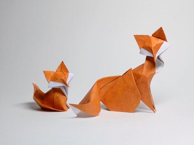 Hoang Tien Quyet origami zvieratka mokrou technikou 2