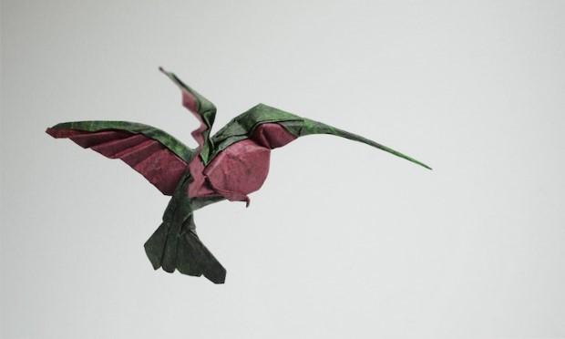 Hoang Tien Quyet origami zvieratka mokrou technikou 3