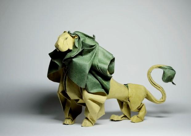Hoang Tien Quyet origami zvieratka mokrou technikou 4