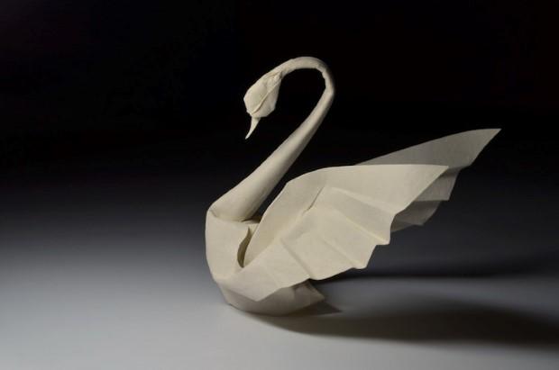 Hoang Tien Quyet origami zvieratka mokrou technikou 6