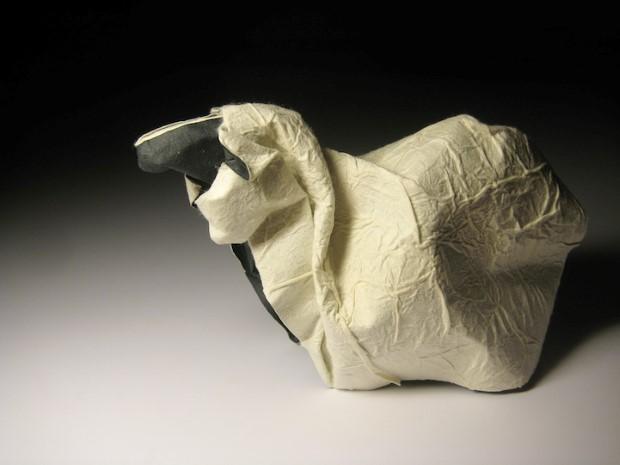 Hoang Tien Quyet origami zvieratka mokrou technikou 7