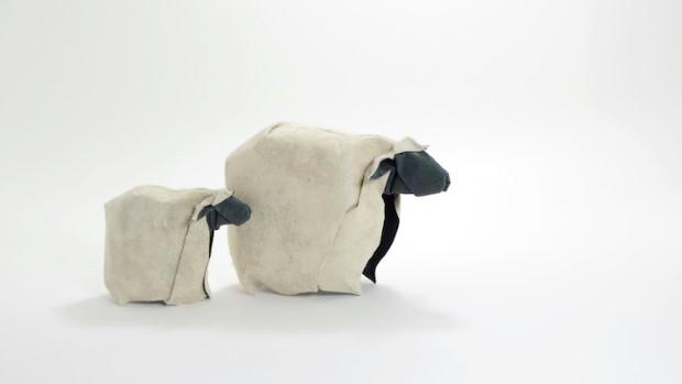 Hoang Tien Quyet origami zvieratka mokrou technikou 8