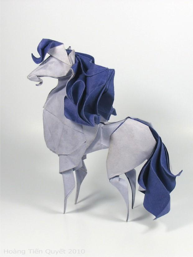 Hoang Tien Quyet origami zvieratka mokrou technikou 9