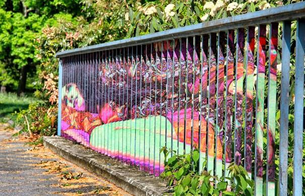 Zebrating Šikovne ukrytý street art, ktorý uvidíte len z určitého uhla pohľadu 7