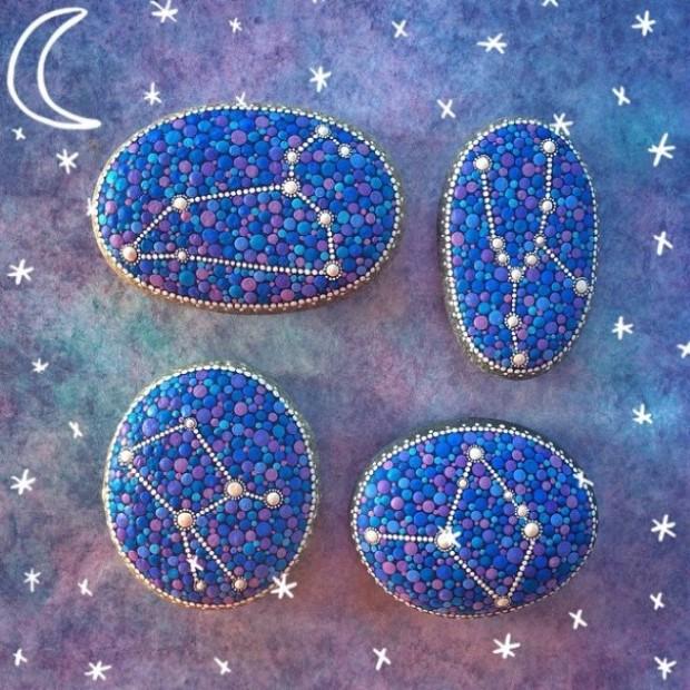 malovane bodkovane kamene mandaly 4