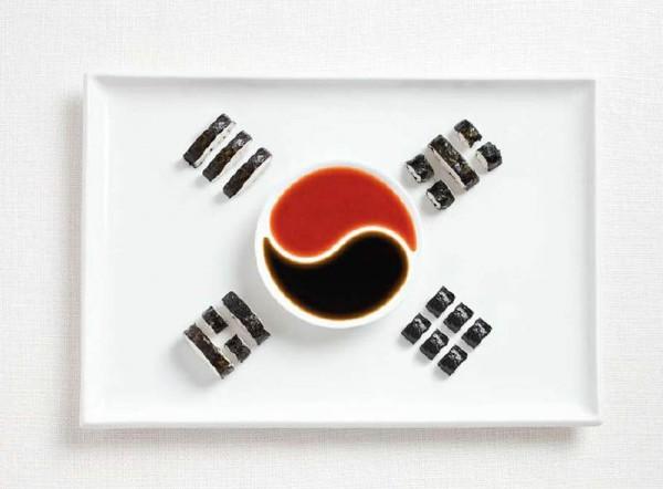 jedle vlajky vytvorene z jedla 11