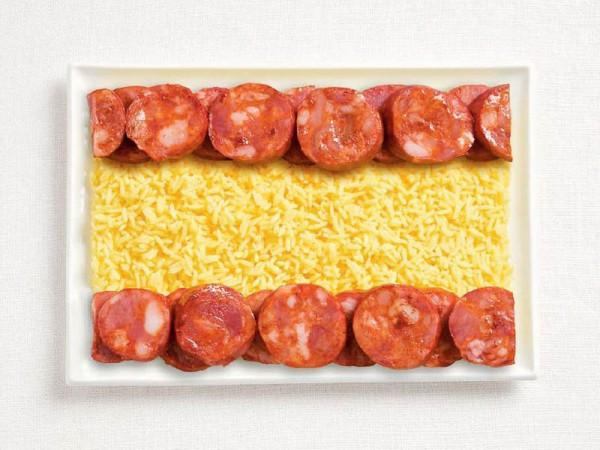 jedle vlajky vytvorene z jedla 12