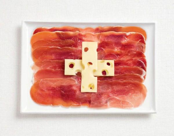 jedle vlajky vytvorene z jedla 13