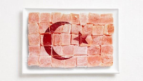 jedle vlajky vytvorene z jedla 15