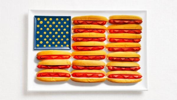Štátne vlajky vytvorené z typických národných jedál 17